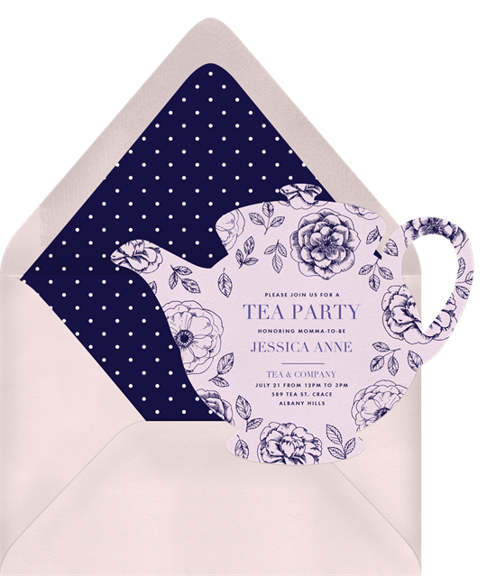 baby shower themes: Dainty Teapot Invitation by Greenvelope