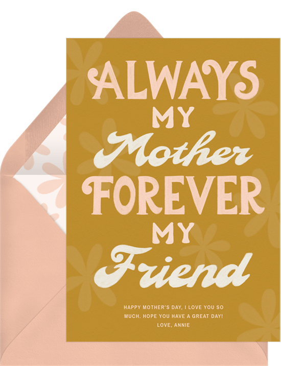 Forever My Friend Card