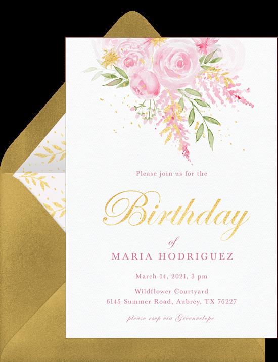 Floral Sparkle Invitation