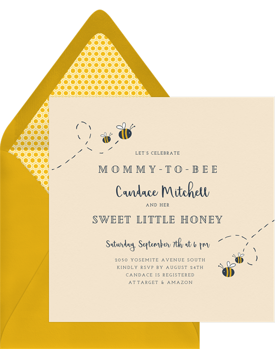 baby shower themes: Mommy-to-Bee Invitation by Greenvelope