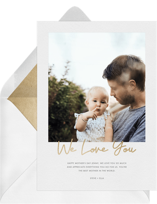 Mother's Day card ideas: We Love You Card