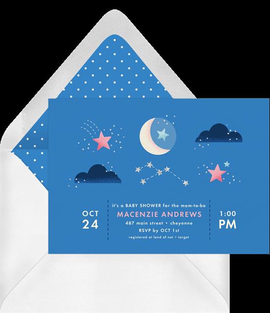 baby shower themes: Celestial Sparkle Invitation by Greenvelope