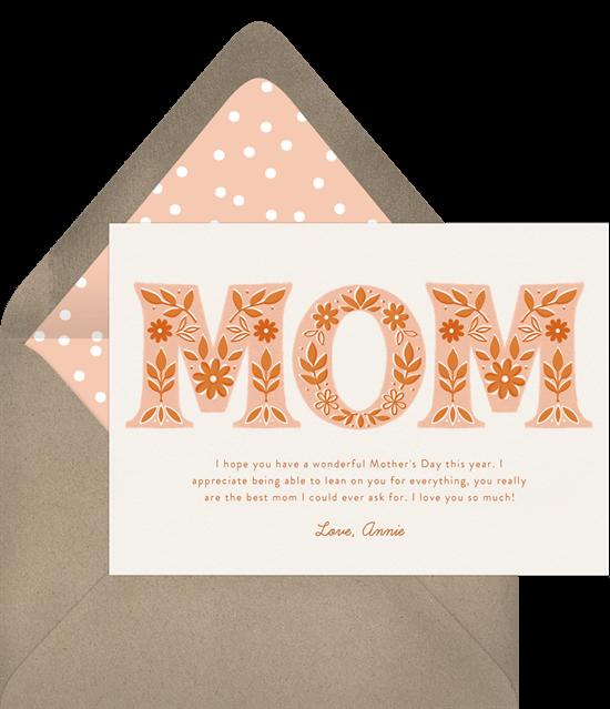 Folksy Floral Card
