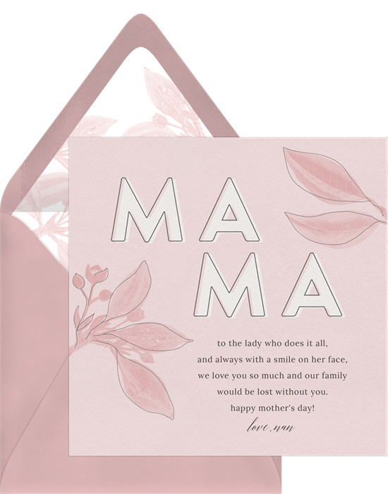 Mother's Day card ideas: Sweet Mama Card