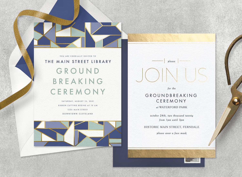 groundbreaking ceremony invitation from Greenvelope