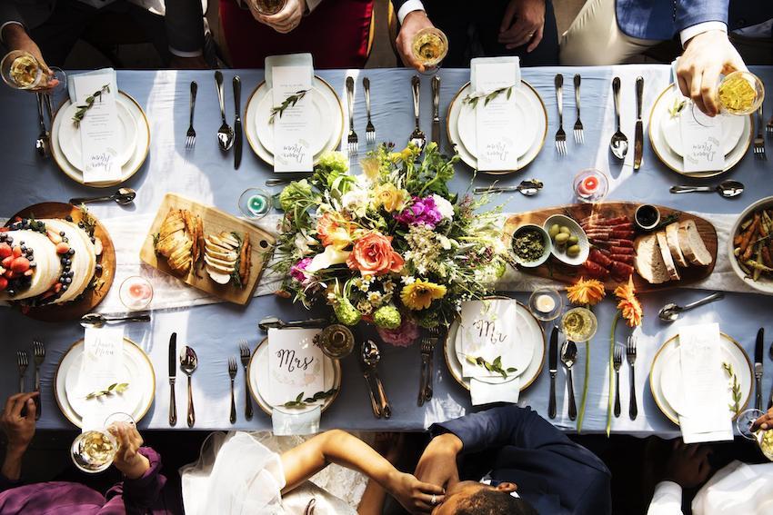 Micro Wedding: Table setup for wedding