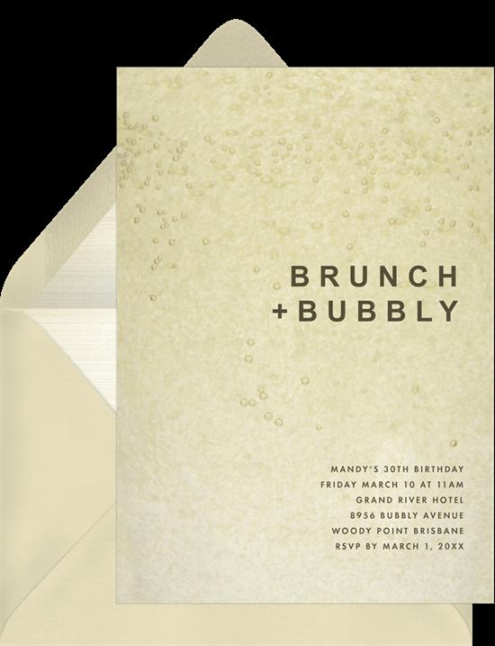 90th birthday invitations: Bubbly Invitation
