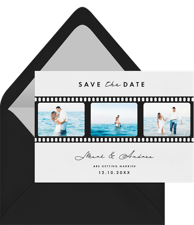 Silver screen trio save the date