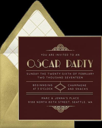 Red carpet event invitation