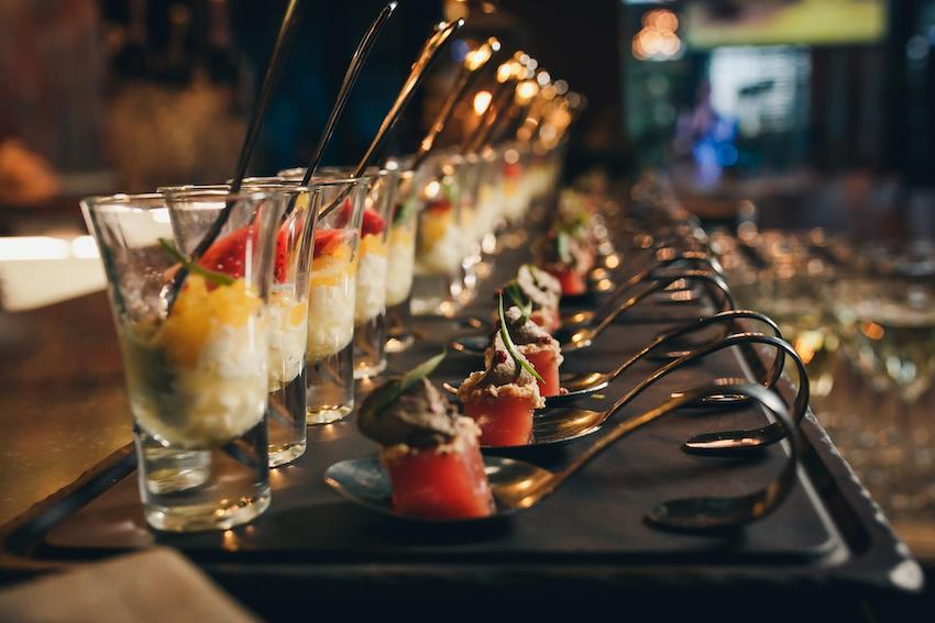 Desserts on a party table