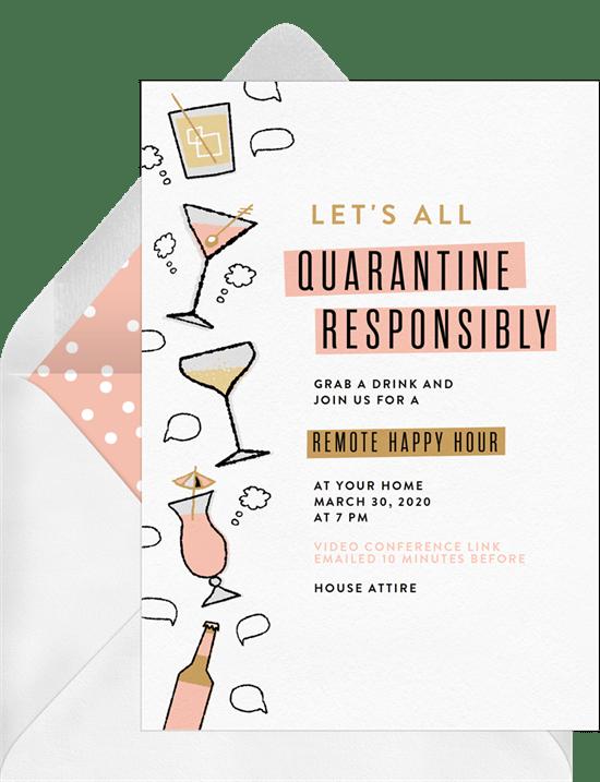 Quarantine Responsibly Invitation by Greenvelope