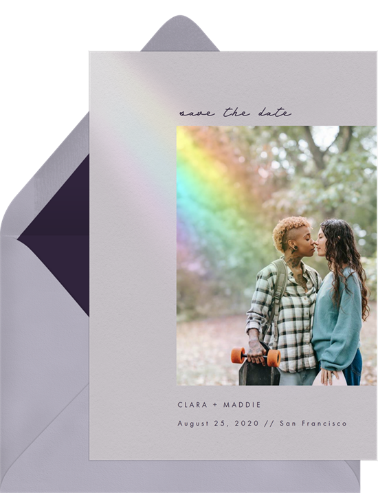 Love and Light Save the Date by Greenvelope