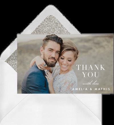 Amelia & Mathis Wedding Thank You Card