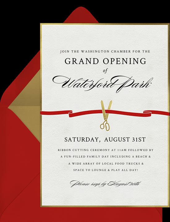 grand opening invitation: Ribbon Cutting Invitation by Greenvelope