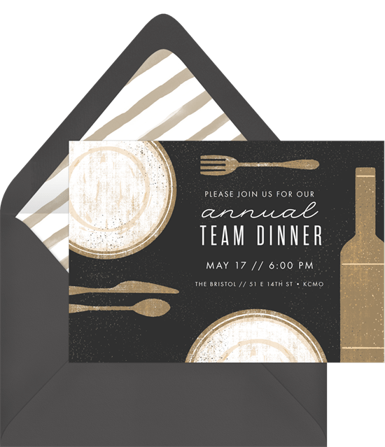 Retro Placesetting Invitation by Greenvelope
