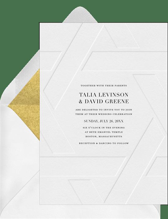 Elegant Emboss Invitation from Greenvelope
