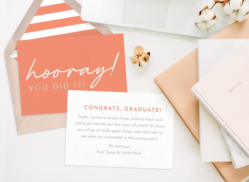 congratulations graduate: congratulations card for graduates example