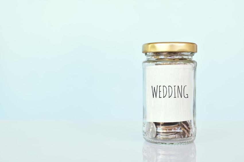 Wedding budget: Coins inside closed jar