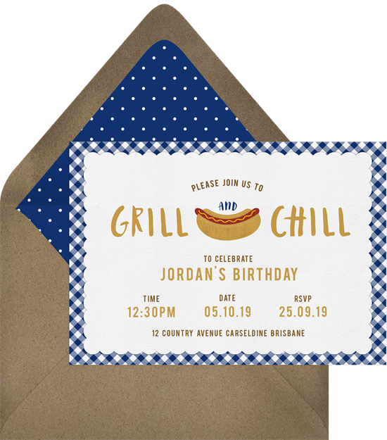 summertime party invitations: Grill & Chill Invitation by Greenvelope