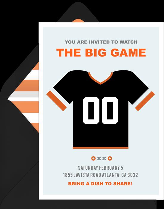 The big game football invite