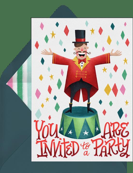 Friendly Ringmaster Invitation by Greenvelope
