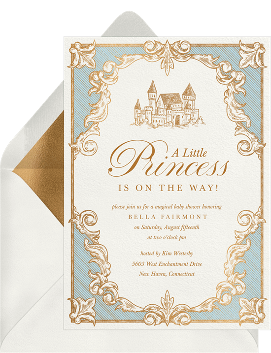 baby shower themes: Once Upon A Time Invitation by Greenvelope