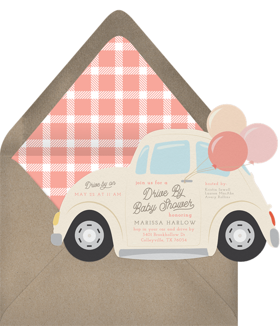 Vintage Beetle Invitation by Greenvelope
