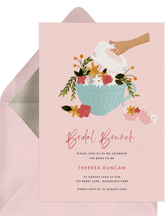 bridal shower gifts: Floral Mixer Invitation by Greenvelope