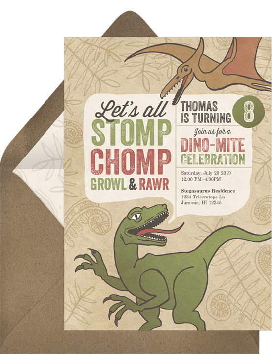 Jurassic Park Invitation by Greenvelope