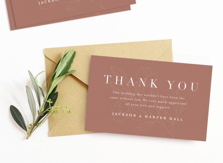 wedding thank you card wording ideas to inspire you