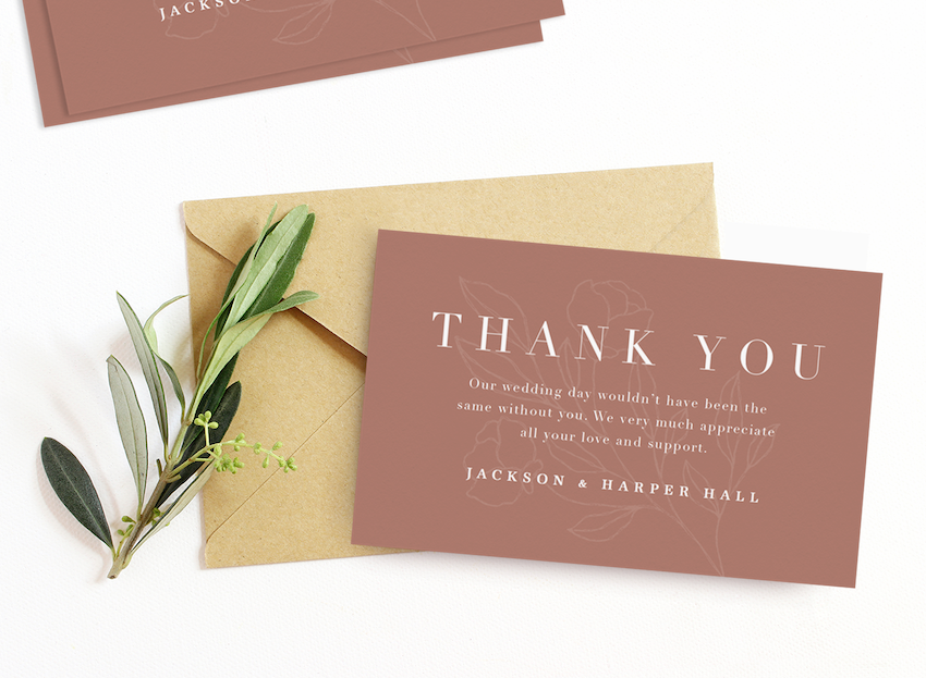 Wedding Thank You Card Wording Ideas To Inspire You Stationers