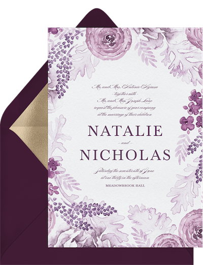 formal wedding invitation wording: The Couple's Name