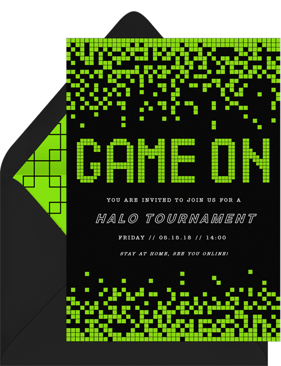 remote team building activities: Game On Invitation by Greenvelope