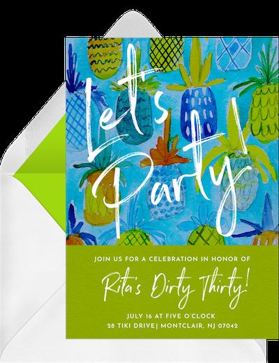 Adult party ideas: Luau invitation