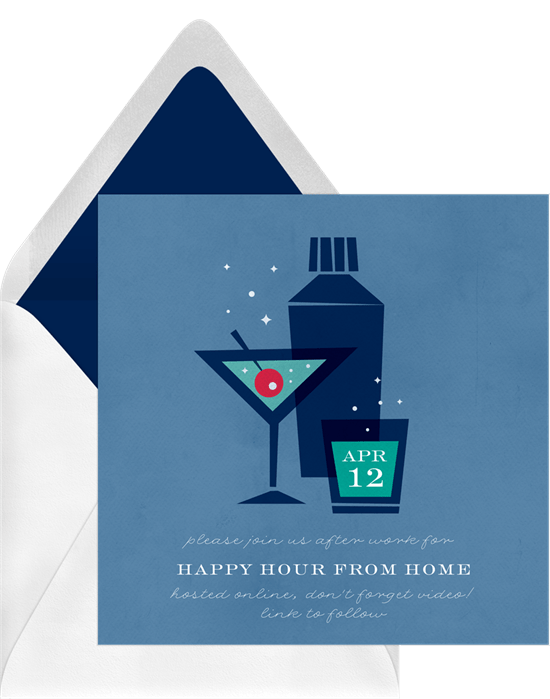 Retro Cocktails Invitation by Greenvelope