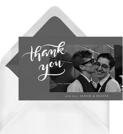 For Loved Ones Who Couldn't Be There on the Day Thank You Card