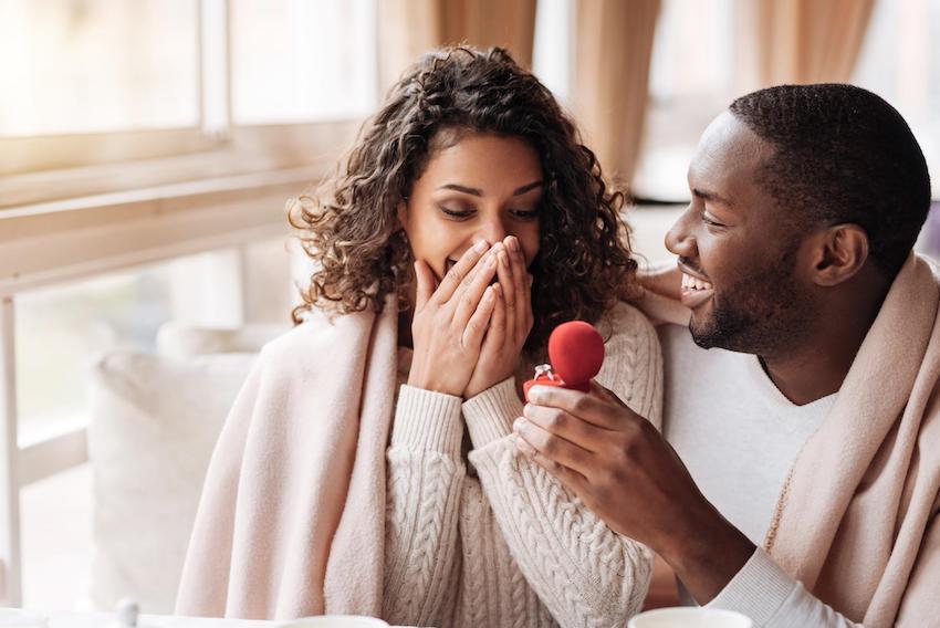 engagement announcement: man proposing