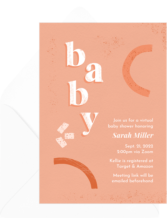 Abstract Boho Baby Invitation by Greenvelope