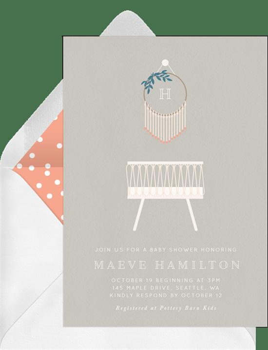 Boho Baby Invitation from Greenvelope