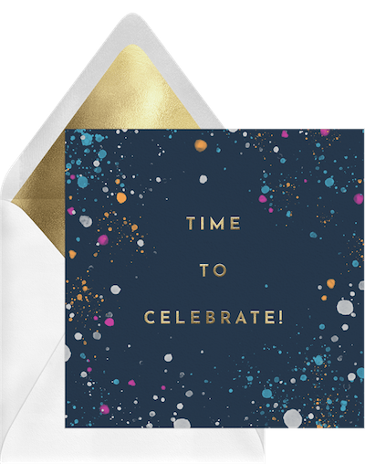 time to celebrate card