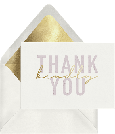 thank you card template: Kind Words Card