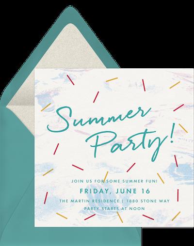 Mini festival invitation