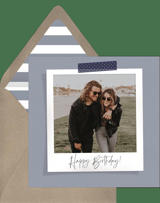 birthday gifts during quarantine: Sweet Snapshot Card by Greenvelope