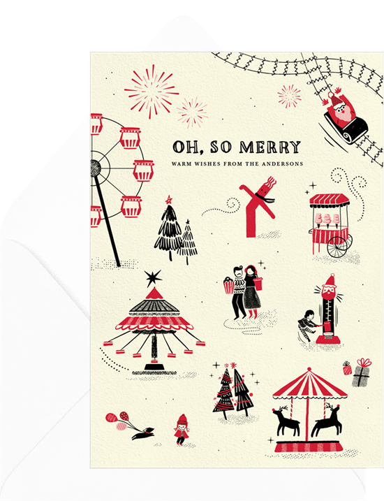 carnival theme party: Christmas Carnival Card by Greenvelope