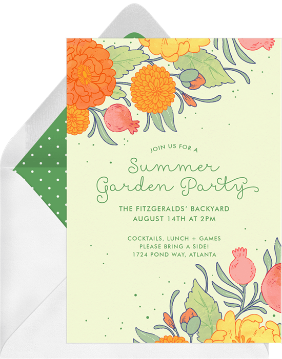 Summer Garden Invitation by Greenvelope