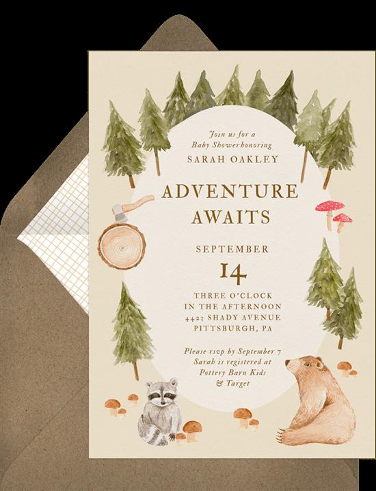 baby shower themes: Woodland Charm Invitation by Greenvelope