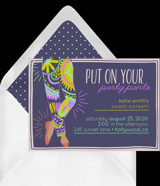 Fancy Pants Invitation by Greenvelope