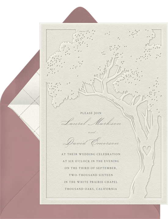 Tree of Life Invitation from Greenvelope