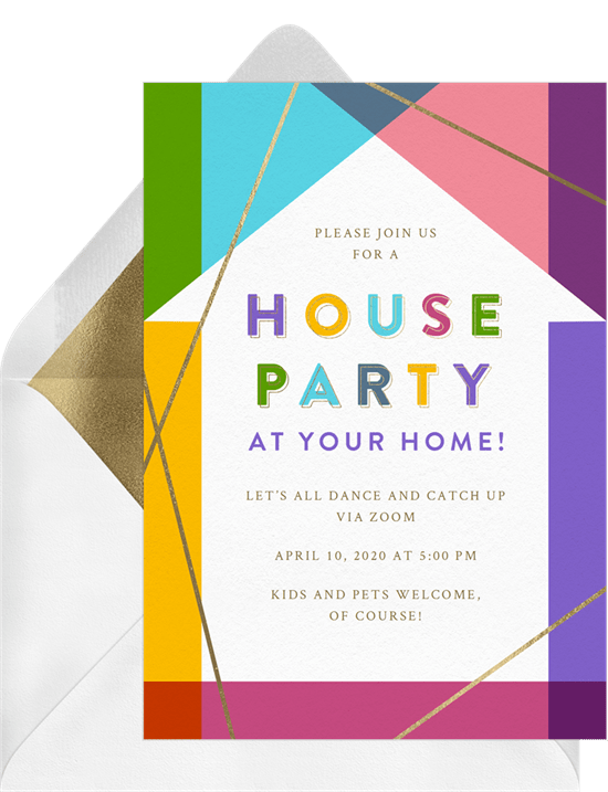 House Party Invitation by Greenvelope