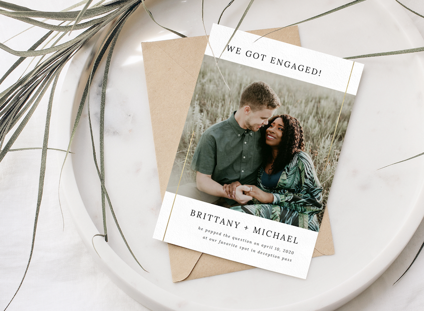 Brittany and Micheal engagement announcement